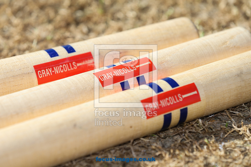 Stumps before day two of the Friendly match at the County Ground, Northampton<br /> Picture by Andy Kearns/Focus Images Ltd 0781 864 4264<br /> 03/04/2017
