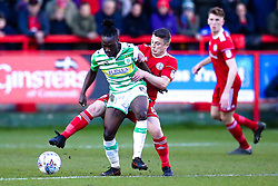 Scott Brown of Accrington Stanley tackles Jordan Green of Yeovil Town - Mandatory by-line: Robbie Stephenson/JMP - 17/04/2018 - FOOTBALL - Wham Stadium - Accrington, England - Accrington Stanley v Yeovil Town - Sky Bet League Two
