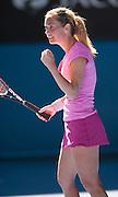 Klara Zakopalova (CZE) feels the heat in Day 1 of the Australian Open. Aussie Samantha Stosur beat  Zakopalova 6-3, 6-4 in first round play of the 2014 Australian Open at Melbourne's Rod Laver Arena. beat Klara Zakopalova (CZE) 6-3, 6-4 in first round play of the 2014 Australian Open at Melbourne's Rod Laver Arena.