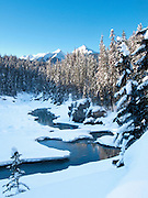 Emerald River, Winter - Yoho National Park