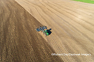 63801-11806 Tilling field after soybean harvest-aerial Marion Co.  IL