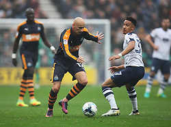 Jonjo Shelvey of Newcastle United (L) and Callum Robinson of Preston North End in action - Mandatory by-line: Jack Phillips/JMP - 29/10/2016 - FOOTBALL - Deepdale - Preston, England - Preston North End v Newcastle United - EFL Championship