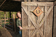 Scottie Jones, proprietor of Leaping Lamb Farm Stay in Alsea, Oregon.