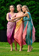 Old Westbury, New York, U.S. 22nd June 2013. Dances by Lori Belilove &amp; The Isadora Duncan Dance Company, with appearances by the Beliloveables, are performed by dancers at the Midsummer Night event at Old Westbury Gardens, throughout the illuminated grounds of the historic Long Island Gold Coast estate.<br />