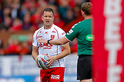 Hull Kingston Rovers stand off Danny McGuire (7)  during the Betfred Super League match between Hull Kingston Rovers and Leeds Rhinos at the Lightstream Stadium, Hull, United Kingdom on 29 April 2018. Picture by Simon Davies.