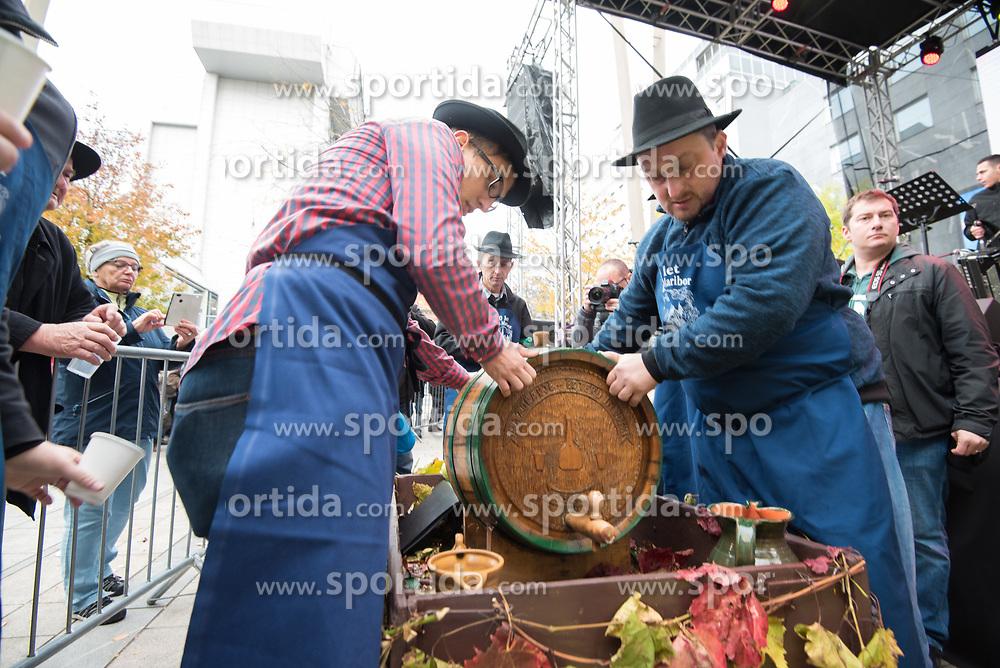 Braci from Malecnik during martinovanje, St. Martin's Day Celebration on November 11, 2019 in Maribor, Slovenia. Photo by Milos Vujinovic / Sportida