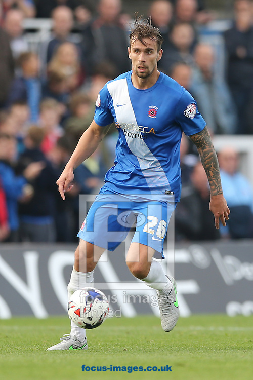 Andrew Boyce of Hartlepool United during the Sky Bet League 2 match at Victoria Park, Hartlepool<br /> Picture by Simon Moore/Focus Images Ltd 07807 671782<br /> 03/10/2015