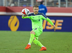 SANTA CLARA, USA - Saturday, July 30, 2016: Liverpool's Alberto Moreno in action against AC Milan during the International Champions Cup 2016 game on day ten of the club's USA Pre-season Tour at the Levi's Stadium. (Pic by David Rawcliffe/Propaganda)