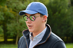 Henry Mayger at Young Guns raising money for the fight against breast cancer trough Cancer Research UK held at EJ Churchill Shooting School followed by lunch at West Wycombe Park, England. 23 September 2017.