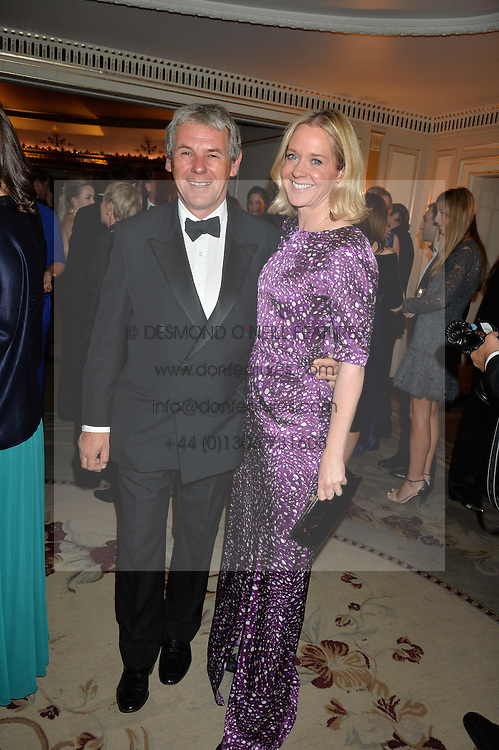 CHARLES GORDON-WATSON and KATE REARDON at the 26th Cartier Racing Awards held at The Dorchester, Park Lane, London on 8th November 2016.