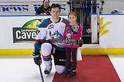KELOWNA, CANADA - FEBRUARY 17:  First Star of the Game Calvin Thurkauf #27 of the Kelowna Rockets at the Kelowna Rockets game on February 17, 2017 at Prospera Place in Kelowna, British Columbia, Canada.  (Photo By Cindy Rogers/Nyasa Photography,  *** Local Caption ***