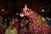 Sao Luis Do maranhao , Brazil-june 22th 2008 : bumba meu boi festival music celebration every solstice of june in center historic city of soa luis do maranhao brazil