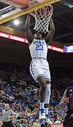 Nov 15, 2017; Los Angeles, CA, USA; UCLA Bruins guard Prince Ali (23) dunks the ball against the Central Arkansas Bears during a NCAA basketball at Pauley Pavilion. UCLA defeated Central Arkansas 106-101 in overtime.
