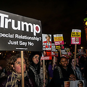 Stop Trump - Stop Brexit protests in Parliament Square,London,UK