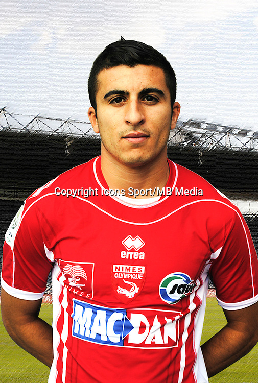 Riad NOURI - 26.09.2013 - Photo officielle - Nimes 2013/2014 - Ligue 2<br /> Photo : Icon Sport