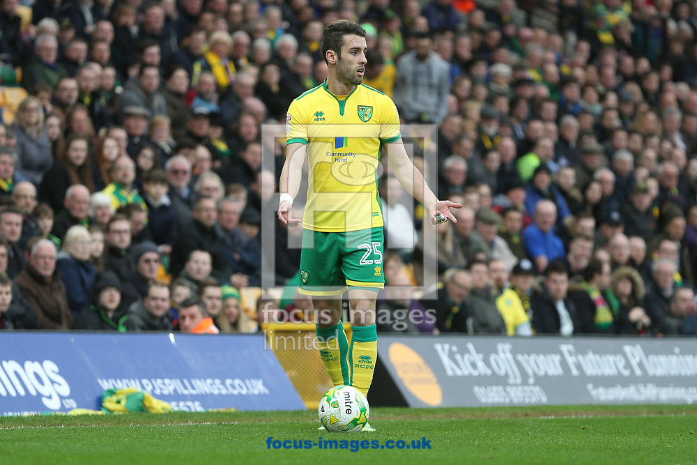 Ivo Pinto of Norwich during the Sky Bet Championship match at Carrow Road, Norwich<br /> Picture by Paul Chesterton/Focus Images Ltd +44 7904 640267<br /> 18/03/2017