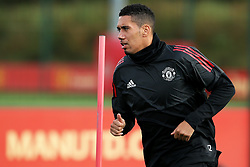 Chris Smalling of Manchester United - Mandatory by-line: Matt McNulty/JMP - 11/09/2017 - FOOTBALL - AON Training Complex - Manchester, England - Manchester United v FC Basel - Press Conference & Training - UEFA Champions League - Group A