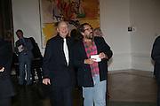 Georg Baselitz and Julian Schnabel, Georg Baselitz, Royal Academy. 18 September 2007. -DO NOT ARCHIVE-© Copyright Photograph by Dafydd Jones. 248 Clapham Rd. London SW9 0PZ. Tel 0207 820 0771. www.dafjones.com.