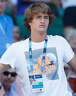 ALEXANDER ZVEREV (GER) als Zuschauer  in der Spieler Loge<br /> <br /> Australian Open 2017 -  Melbourne  Park - Melbourne - Victoria - Australia  - 22/01/2017.