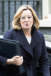 Downing Street, London, November 15th 2016.  Home Secretary Amber Rudd arrives in Downing Street for the weekly cabinet meeting.