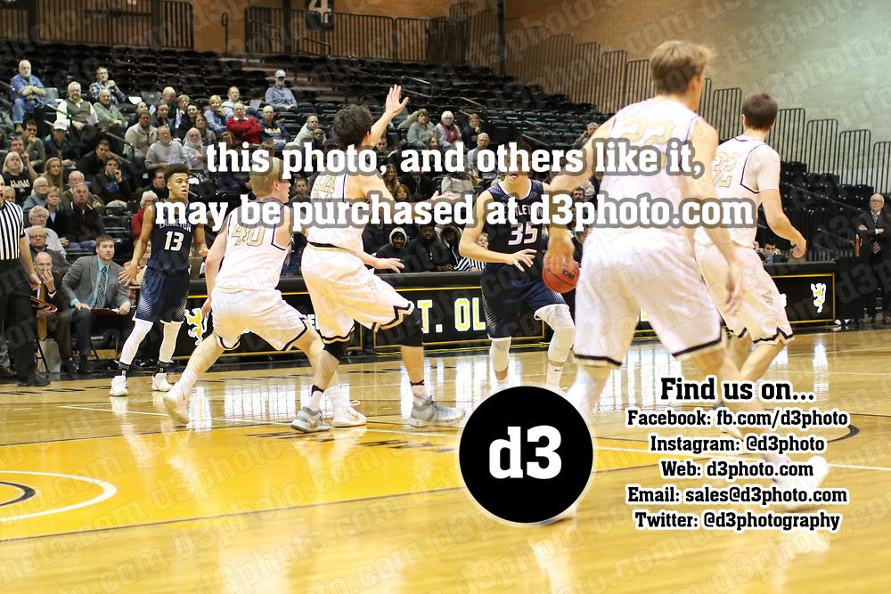 St. Olaf vs Carleton Men's Basketball. Jeff Lawler, d3photography.com