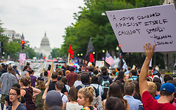 August 14, 2017 - Hundreds of people took the streets in Washington DC for a second day to protest against fascism and white supremacism. (Credit Image: © Dimitrios Manis via ZUMA Wire)