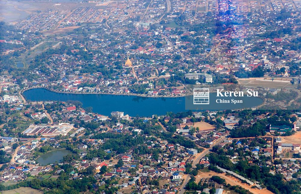 Aerial view of Kengtung, Myanmar