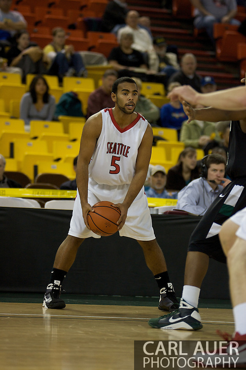 November 29th, 2008:  Anchorage, Alaska - Seattle University guard Shaun Burl (5) in the third place game on the final day of the Great Alaska Shootout.