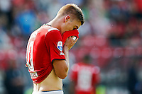 ALKMAAR - 30-08-2015, AZ - Roda JC, AFAS Stadion, 0-1, teleurstelling, AZ speler Markus Henriksen.