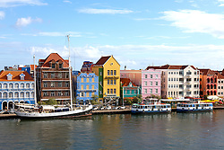 Willemstad, Curacao, Lesser Antilles, Caribbean: Willemstad's famous and photogenic waterfront.