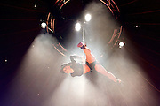 La Soiree<br /> at the La Soiree Spiegeltent, Southbank Centre, London, Great Britain <br /> press photocall<br /> 29th October 2015 <br /> <br /> <br /> Yammel Rodriguez <br /> aerial acrobatics <br /> <br /> <br /> <br /> <br /> Photograph by Elliott Franks <br /> Image licensed to Elliott Franks Photography Services