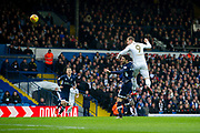 Leeds United Forward Pierre-Michel Lasogga heads the ball during the EFL Sky Bet Championship match between Leeds United and Millwall at Elland Road, Leeds, England on 20 January 2018. Photo by Craig Zadoroznyj.