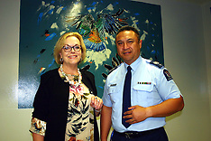 Auckland-MP Judith Collins opens cells decorated by artists, Wiri