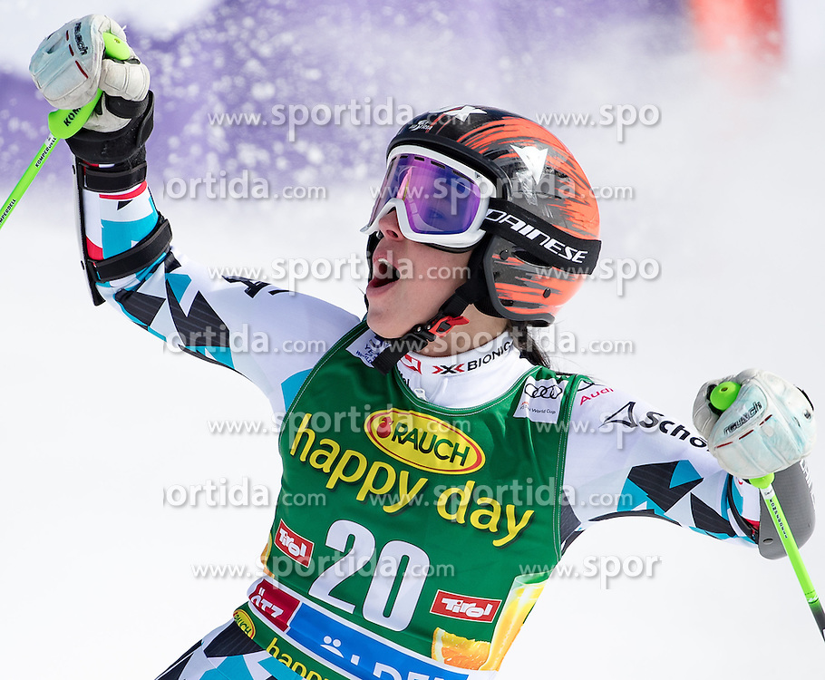 22.10.2016, Rettenbachferner, Soelden, AUT, FIS Weltcup Ski Alpin, Soelden, Riesenslalom, Damen, 2. Durchgang, im Bild Stephanie Brunner (AUT) // Stephanie Brunner of Austria reacts after her 2nd run of ladies Giant Slalom of the FIS Ski Alpine Worldcup opening at the Rettenbachferner in Soelden, Austria on 2016/10/22. EXPA Pictures © 2016, PhotoCredit: EXPA/ Johann Groder