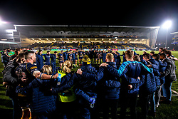 Worcester Warriors huddle after beating Harlequins - Mandatory by-line: Robbie Stephenson/JMP - 23/11/2018 - RUGBY - Sixways Stadium - Worcester, England - Worcester Warriors v Harlequins - Gallagher Premiership Rugby