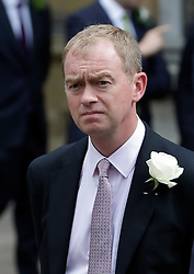 © Licensed to London News Pictures. 20/06/2016. London, UK. Liberal Democrat Leader TIM FARRON MP arrives at St Margaret's Church, Westminster Abbey to take part in a Service of Prayer and Remembrance to commemorate Jo Cox MP, who was killed in her constituency on June 16, 2016. Photo credit: Peter Macdiarmid/LNP
