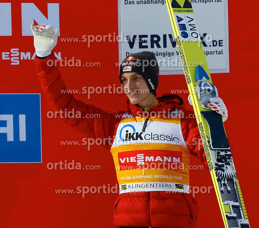 13.02.2013, Vogtland Arena, Kingenthal, GER, FIS Ski Sprung Weltcup, im Bild Drittplazierter, Gregor Schlierenzauer, (AUT) // during the FIS Skijumping Worldcup at the Vogtland Arena, Kingenthal, Germany on 2013/02/13. EXPA Pictures © 2013, PhotoCredit: EXPA/ Eibner/ Ingo Jensen..***** ATTENTION - OUT OF GER *****