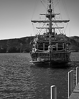 Lake Ashi Tourist Pirate ship. Image taken with a Leica T camera and 18-56 mm lens.
