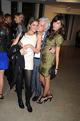 Left to right, VIOLET VON WESTENHOLZ, NICKY HASLAM and CAROLINE SIEBER at the Quintessentailly Summer Party at the Phillips de Pury Gallery, 9 Howick Place, London on 9th July 2008.<br />