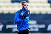 Notts County midfielder Alan Smith (17) warming up  during the EFL Sky Bet League 2 match between Notts County and Wycombe Wanderers at Meadow Lane, Nottingham, England on 30 March 2018. Picture by Simon Davies.