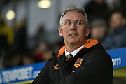 Hull City manager / head coach Nigel Adkins during the EFL Sky Bet Championship match between Burton Albion and Hull City at the Pirelli Stadium, Burton upon Trent, England on 10 April 2018. Picture by Richard Holmes.