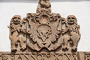 Dutch East India Company Coat of Arms above an entrance to the Galle Fort.