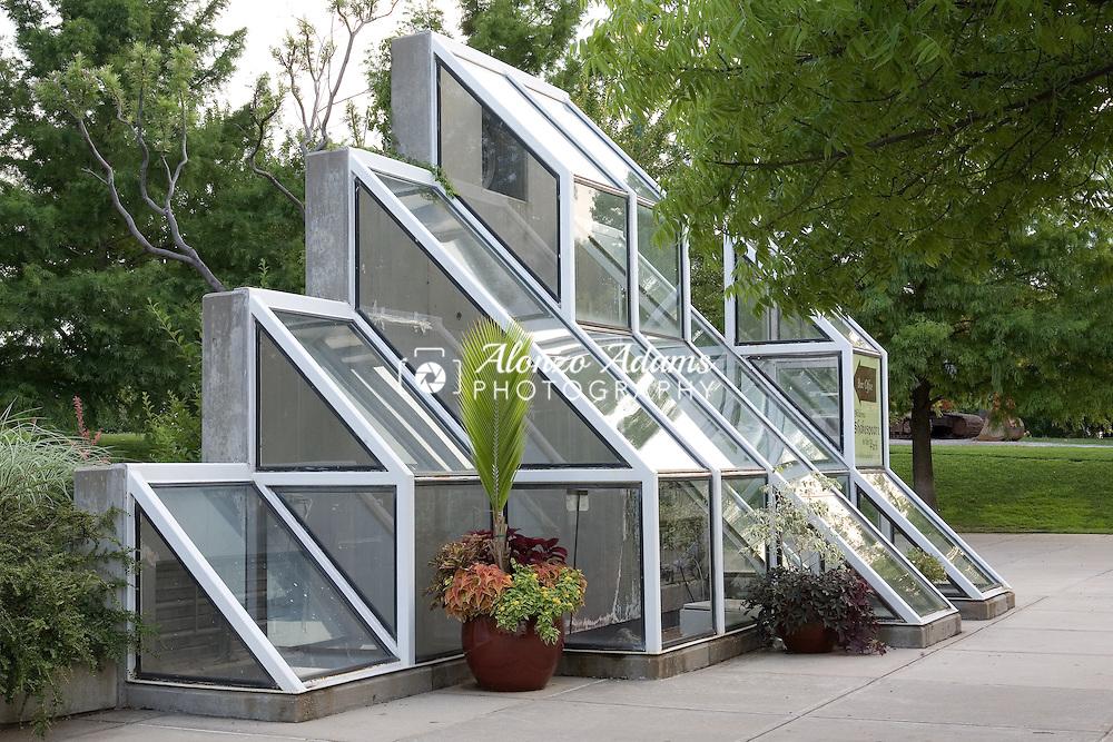 A Myriad Botanical Gardens glass sculpture on Tuesday, June 17, 2008.  (Photo by Alonzo J. Adams)