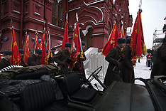 Moscow: WWII historical parade in Russia, 7 Nov. 2016