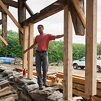 Ian Blackman Barn Restoration and Preservation Specialist. Project: Rockledge Farm, NH. All Content is Copyright of Kathie Fife Photography. Downloading, copying and using images without permission is a violation of Copyright.