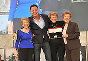 Bruce Springsteen stands on stage with his mother Adele Springsteen, second right, and his aunts Ida Urbelis, right, and Dora Kirby, left, after he was honored at the 9th annual Ellis Island Family Heritage Awards, Thursday, April 22, 2010.  Springsteen's maternal grandfather Antonio Zerilli immigrated to America through Ellis Island from Italy in 1900.