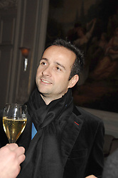 MATTHEW HERMER a director of the Ignite Group which own Boujis at a dinner to celebrate the launch of the Dom Ruinart 1998 vinatage champage at Claridge's, Brook Street, London W1 on 23rd April 2008.<br />