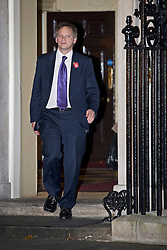 © London News Pictures. 07/11/2012. London, UK. Conservative Party Co-Chairman Grant Shapps leaving 10 Downing Street in London on November 07, 2012. Photo credit: Ben Cawthra/LNP