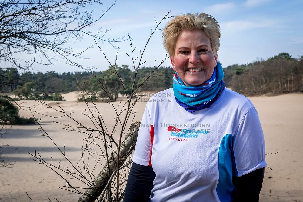 18-03-2018 NED: We hike to change diabetes, Soest<br /> Training voor de Camino 2018 op de Soesterduinen / Mirjam