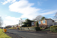 Post-war prefabricated houses in Paisley, near Glasgow, Scotland